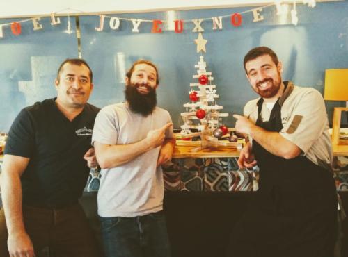 Noël, repas entreprise, fêtes