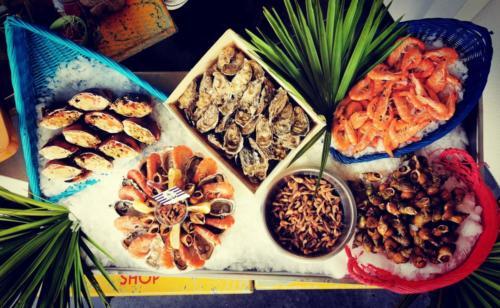 Etal fruits mer
