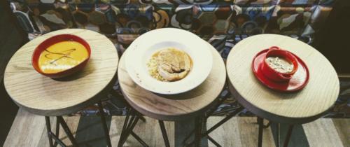Menu jour, entrée, plat, dessert